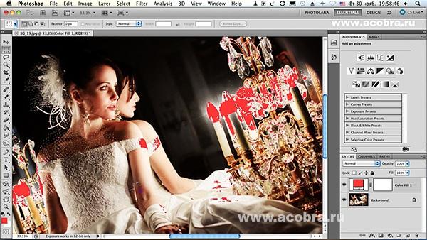 Пересветы - контроль при обработке в Photoshop